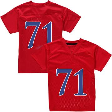 Men's Cam Durley Kansas Jayhawks Adidas Replica Red Football College Jersey