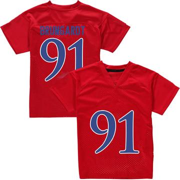 Men's Cole Brungardt Kansas Jayhawks Adidas Replica Red Football College Jersey