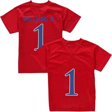 Men's Pooka Williams Jr. Kansas Jayhawks Adidas Game Red Football College Jersey