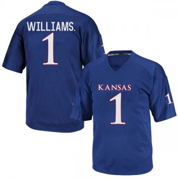 Men's Pooka Williams Jr. Kansas Jayhawks Adidas Replica Royal Blue Football College Jersey