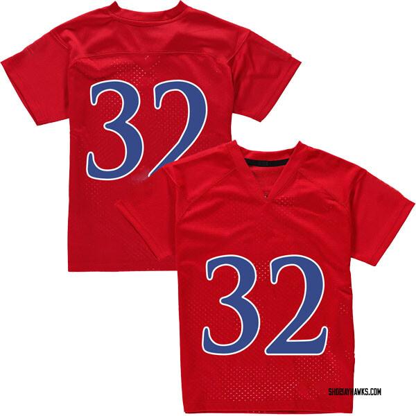 Men's Reese Randall Kansas Jayhawks Adidas Replica Red Football College Jersey