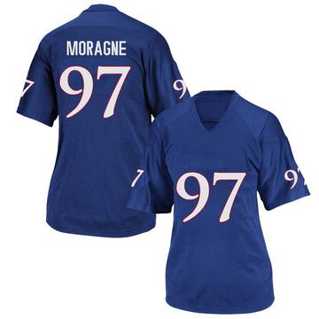 Women's Darrius Moragne Kansas Jayhawks Adidas Replica Royal Blue Football College Jersey