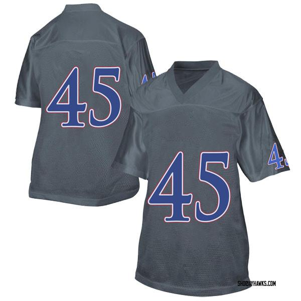 Women's Dylan Freberg Kansas Jayhawks Adidas Replica Gray Football College Jersey