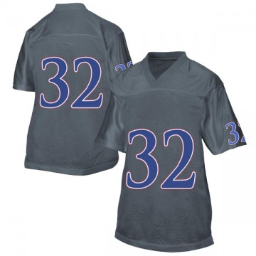 Women's Reese Randall Kansas Jayhawks Adidas Game Gray Football College Jersey