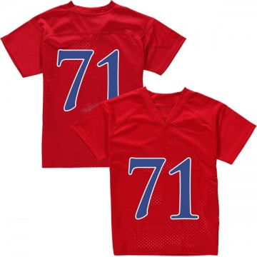 Youth Cam Durley Kansas Jayhawks Adidas Game Red Football College Jersey