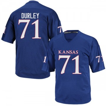 Youth Cam Durley Kansas Jayhawks Adidas Replica Royal Blue Football College Jersey