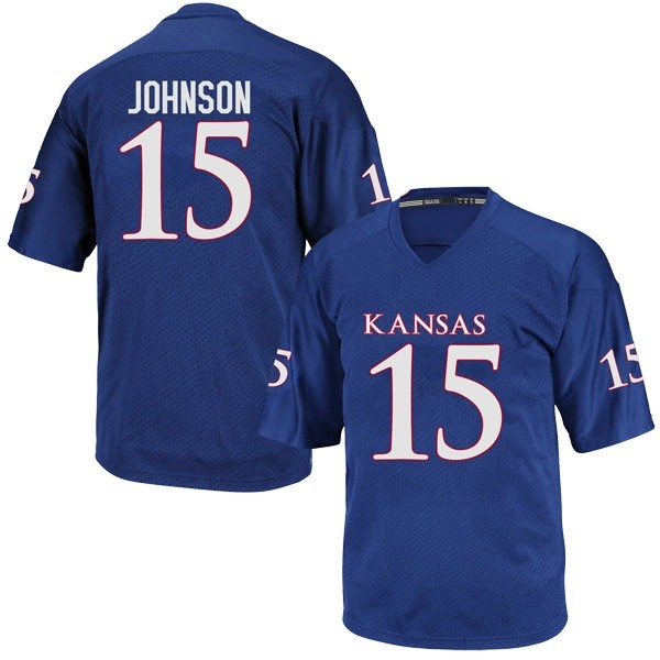 Youth Kyron Johnson Kansas Jayhawks Adidas Replica Royal Blue Football College Jersey