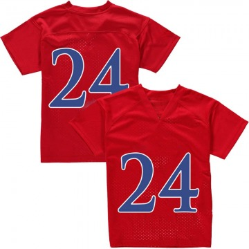 Youth Lagerald Vick Kansas Jayhawks Adidas Game Red Football College Jersey