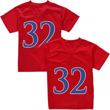 Youth Reese Randall Kansas Jayhawks Adidas Game Red Football College Jersey