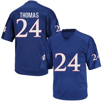 Youth Ricky Thomas Kansas Jayhawks Adidas Replica Royal Blue Football College Jersey